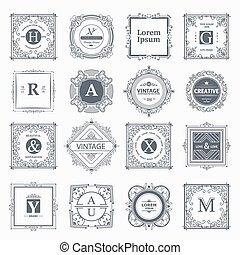 贅沢, monogram, テンプレート