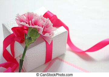 贈り物の箱, ∥で∥, 美しい, カーネーション, 花