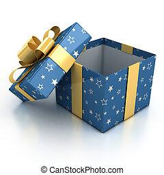 贈り物の箱, 上に, 白い背景