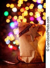 贈り物, カラフルである, 単純である, bokeh, パーティー, クリスマス