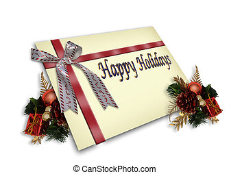 贈り物, クリスマスカード, 3d