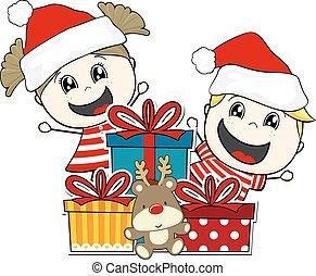 贈り物, クリスマス, 子供