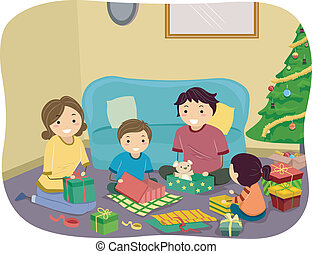 贈り物, クリスマス, 家族
