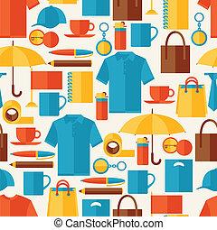 贈り物, パターン, seamless, souvenirs., 昇進