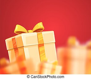 贈り物, パッキング, 箱, 休日, クリスマス, リボン