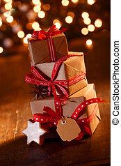 贈り物, パーティー, クリスマス, お祝い