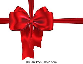 贈り物, リボン, 赤