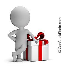 贈り物, 人々, -, 小さい, あなたの, 3d