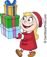 贈り物, 女の子