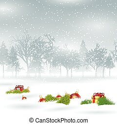 贈り物, 安っぽい飾り, 背景, クリスマス