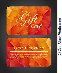 贈り物, 底, 上, -, 贅沢, 側, カード