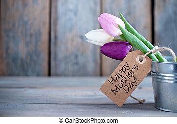 贈り物, 母, 花, 日