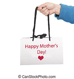 贈り物, 母, 袋, 日