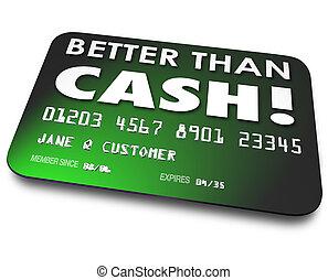 贈り物, 現金, よりよい, クレジット, 便利さ, カード, 容易である, 借方, より, shoppin
