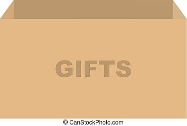 贈り物, 箱, ベクトル