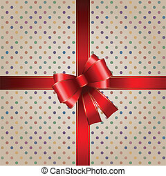 贈り物, 背景, リボン, 赤