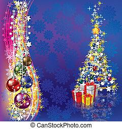 贈り物, 装飾, 木, クリスマス
