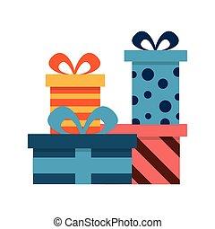 贈り物, 装飾, 箱, birthday, 驚き, 祝福