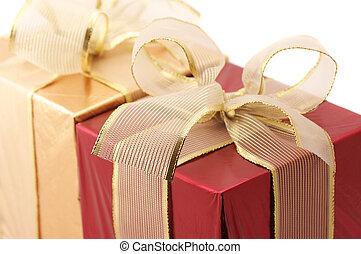 贈り物, 赤, 金