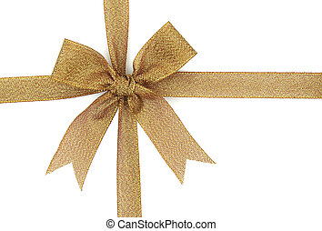 贈り物, 隔離された, 弓, 背景, 白いリボン