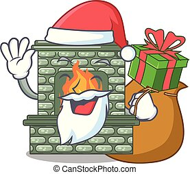 贈り物, 隔離された, 贅沢, santa, 暖炉, マスコット