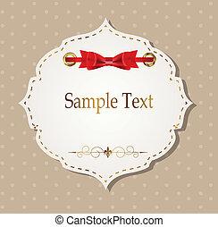 贈り物, elements., イラスト, ベクトル, デザイン, リボン, カード