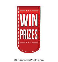 贏得, 獎品, 旗幟, 設計
