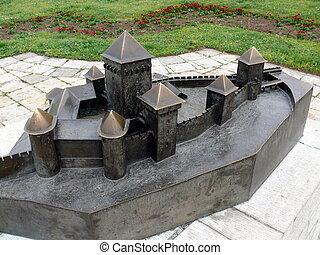 贝尔格莱德, 要塞, 模型, 在上, kalemegdan, 塞尔维亚