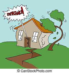 财产, 地震