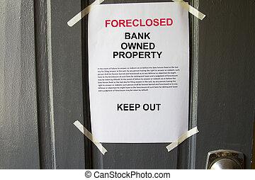 财产, foreclosed