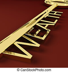 财富, 金子, 财产, 财富, 钥匙, 代表