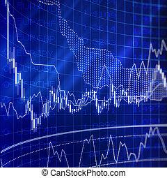 货币, forex, 从事贸易, 图表
