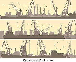 货物, 工业, 港口, crane.