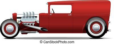 货车, hot-rod, 面板