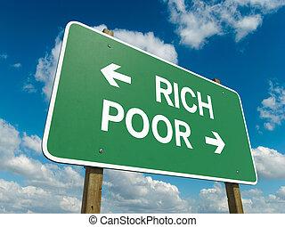 贫穷, 富有