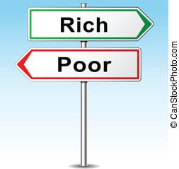 贫穷, 概念, 富有, 矢量