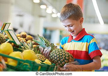 购物, 超级市场, 孩子