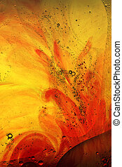 赤い、そして黄色の, 抽象的, 背景