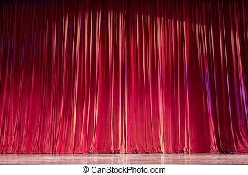 赤いカーテン, stage.