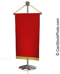 赤いテーブル, 旗
