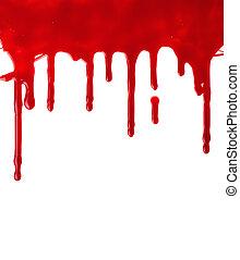 赤いペイント, たたきつける