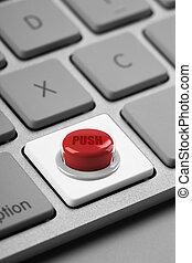 赤いボタン, コンピュータキーボード, キー