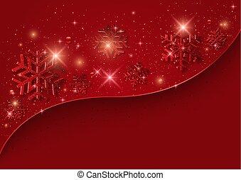 赤い背景, クリスマス