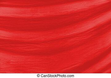 赤い背景, 手ざわり, 生地