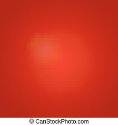 赤い背景, 白熱