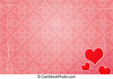 赤い背景, 結婚式