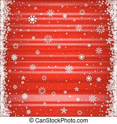 赤い背景, 雪が多い