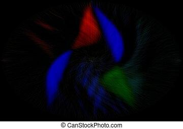 赤い黒字, -, 青, 緑, 抽象的, 背景, ライン, 背景。