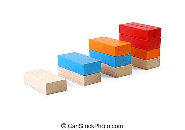 赤ん坊のブロック, 数字, -, チャート