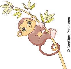 赤ん坊の猿